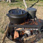 ファイアーディスクとベストマッチのダッチオーブンセットを発見!(コールマン)