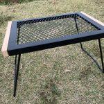 バンドックのIRテーブル(BD-164)が焚き火テーブルに負けずといい感じ!